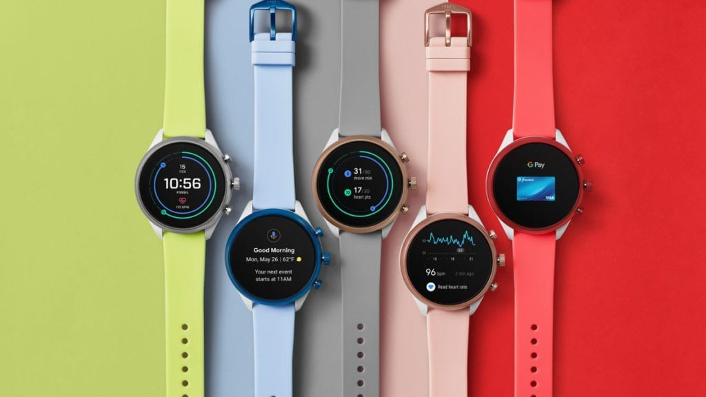 colorful fossil smartwatches